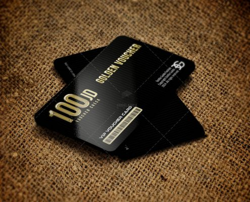 Golden Card Mockup